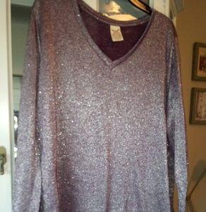 Star light purple sparkling sweater